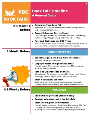 PBC Book Fair Timeline